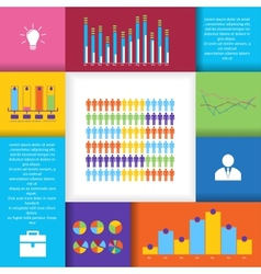 Social network infographics set vector