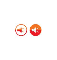 sound alert logo icon vector image