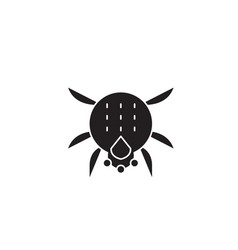 spider black concept icon spider flat vector image