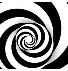 Spiral abstract background dynamic art vector image vector image