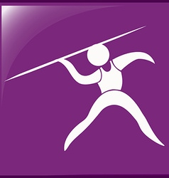 Sport icon design for javelin vector image