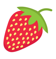 Strawberry flat icon fruit and diet vector