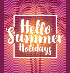 summer travel banner with palm trees vector image