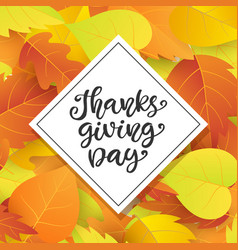 thanksgiving day poster template vector image