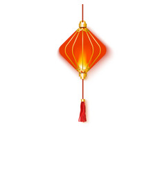 traditional oriental and hanging red glowing vector image