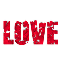typographic love word abstract happy valentines vector image