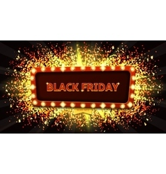 Web banner with glowing lamps for Black friday vector