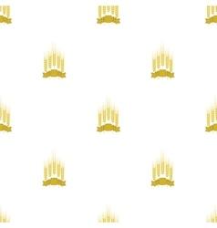 Wheats Ribbon Seamless Pattern vector image