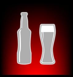 beer bottle style vector image