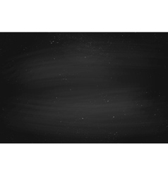 Black empty chalkboard background surface and vector image