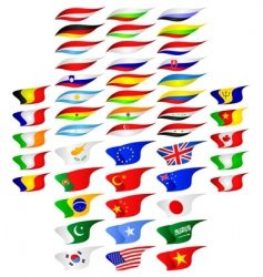 different flags vector image vector image