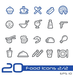 Food Icons Outline Series vector image