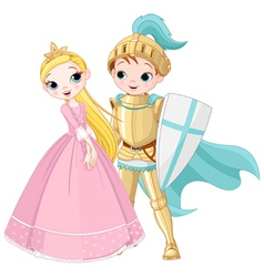 Knight and Princess vector image