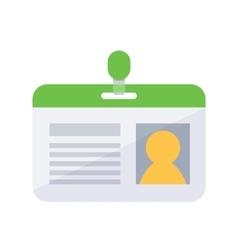 Personal identification badge vector image
