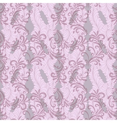 seamless gentle pink-grey floral pattern with tran vector image vector image