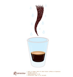 Single Ristretto Coffee in A Shot Glass vector image vector image