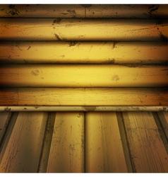 Wooden interior vector