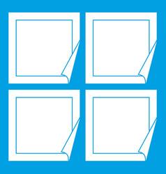 black stickers icon white vector image