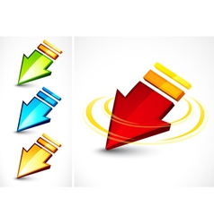 colorful directional arrows vector image vector image
