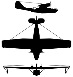 Consolidated PBY5 Catalina vector image vector image
