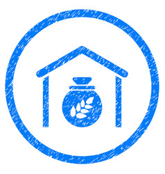 grain storage rounded grainy icon vector image vector image