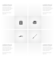 icon war set of clock dagger defense and other vector image vector image