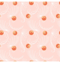 Peaches seamless pattern vector image