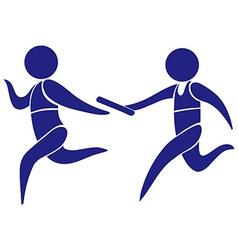 Sport logo for running relay vector image vector image