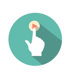 touch iconicon flat vector image