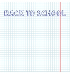 Blank exercise book paper sheet vector image