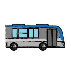 Bus transport vehicle passenger vector