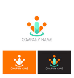people group abstract logo vector image vector image