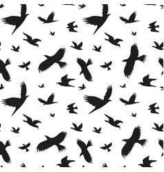 silhouette black fly birds background pattern vector image vector image