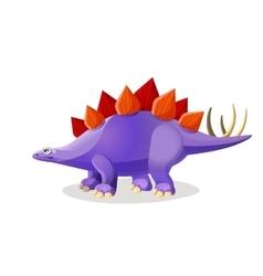 Stegosaurus isolated on white Genus of armored vector image