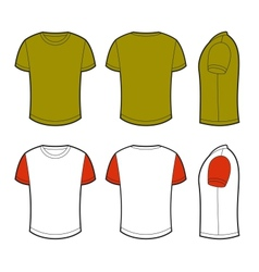 Blank t-shirt vector image vector image
