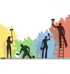 color painters vector image