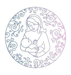concept of motherhood vector image