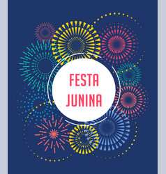festa junina backgorund vector image