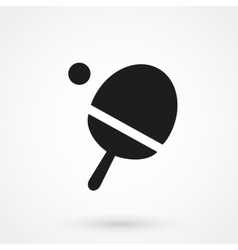 Ping pong table tennis icon vector image