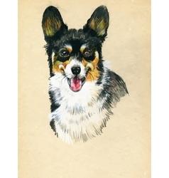 Puppy dog hand drawn sketch vector image