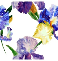 Seamless pattern with color irises1-03 vector image