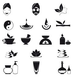 Wellness icons vector image