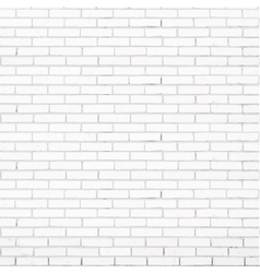 white brick wall texture vector image vector image