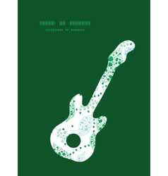 Abstract blue and green leaves guitar music vector