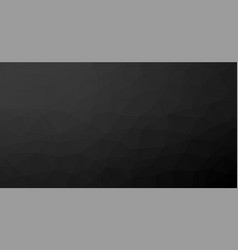 Black low poly background vector