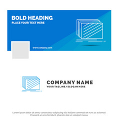 blue business logo template for design layer vector image