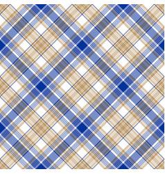 Blue gold tartan seamless pattern vector