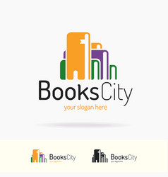 book logo trendy flat style vector image