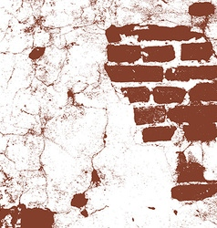 Brickwork brick wall of an old house brown and vector