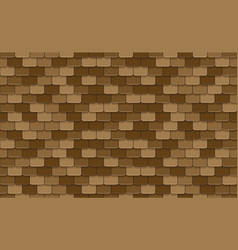 Brown roof tiles seamless pattern vector